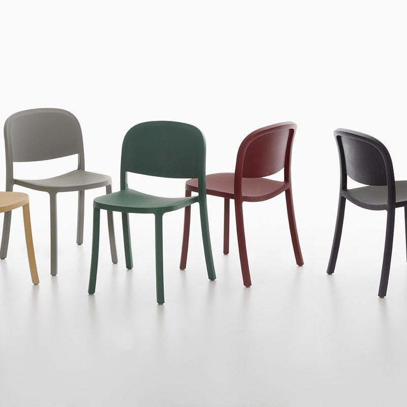 1 Inch Chair Made of Reclaimed Plastic and Wood by Emeco