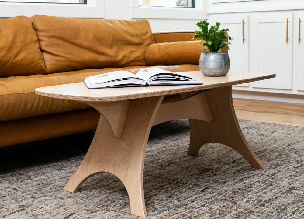 Simbly Coffee Table - Maple - Beautiful Sustainable Flat-Pack Design