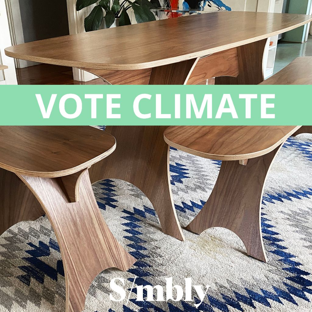 Simbly Sustainable Furniture Vote For Climate Action