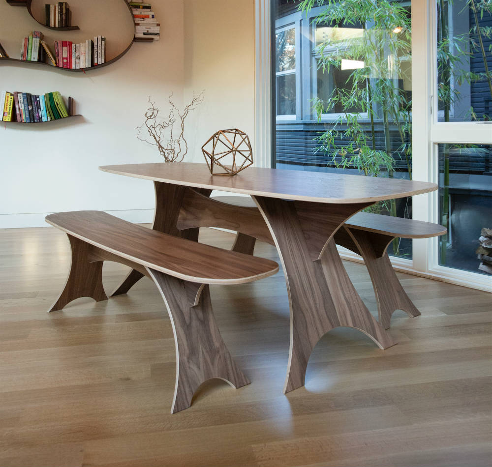 Simbly Modern Sustainable Dining Table