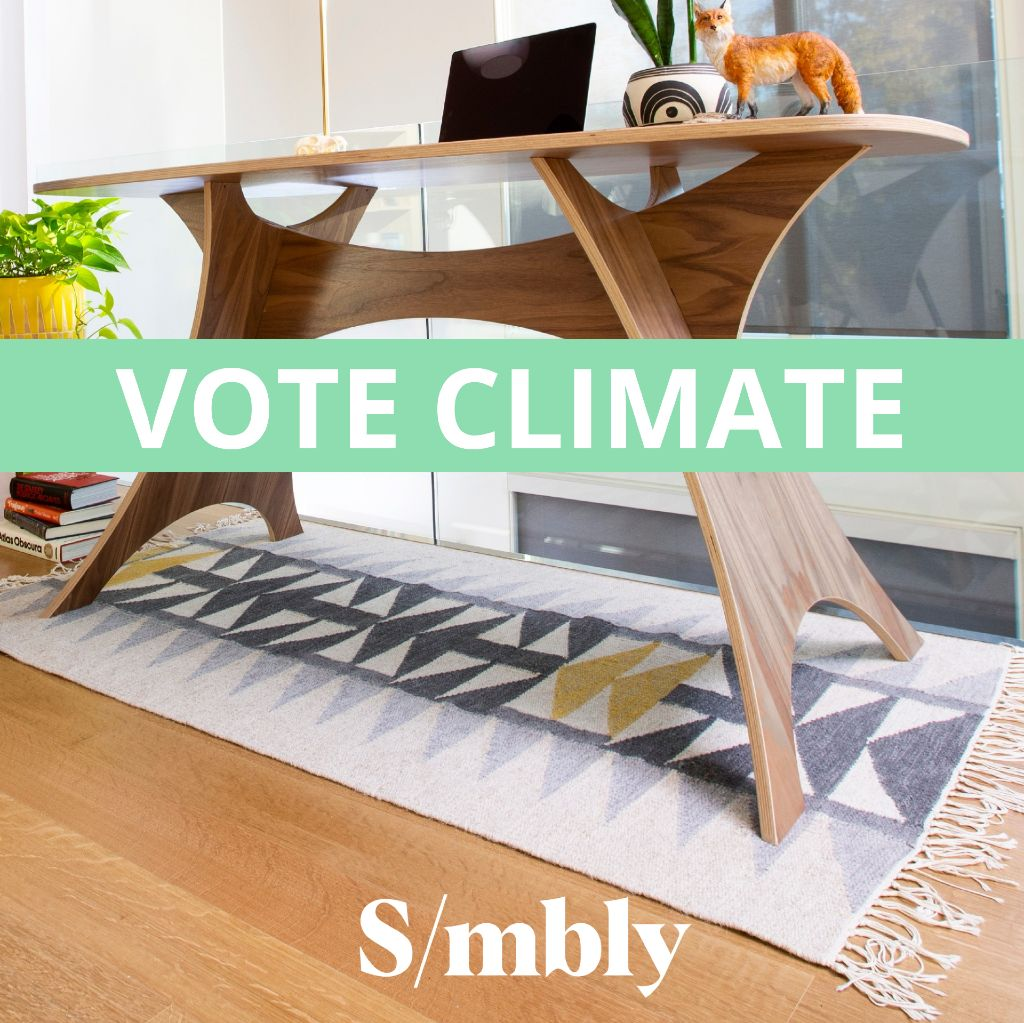Simbly Sustainable Furniture Vote For Climate Change Action