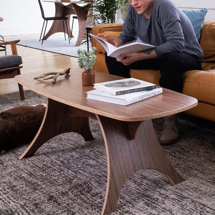 Simbly Eco-Friendly Coffee Table Sustainable FSC Certified Wood Walnut