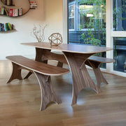 Simbly Eco-Friendly Dining Table FSC Wood Walnut 2