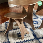 Simbly End Table Stool  Eco-Friendly FSC Certified  Walnut Wood