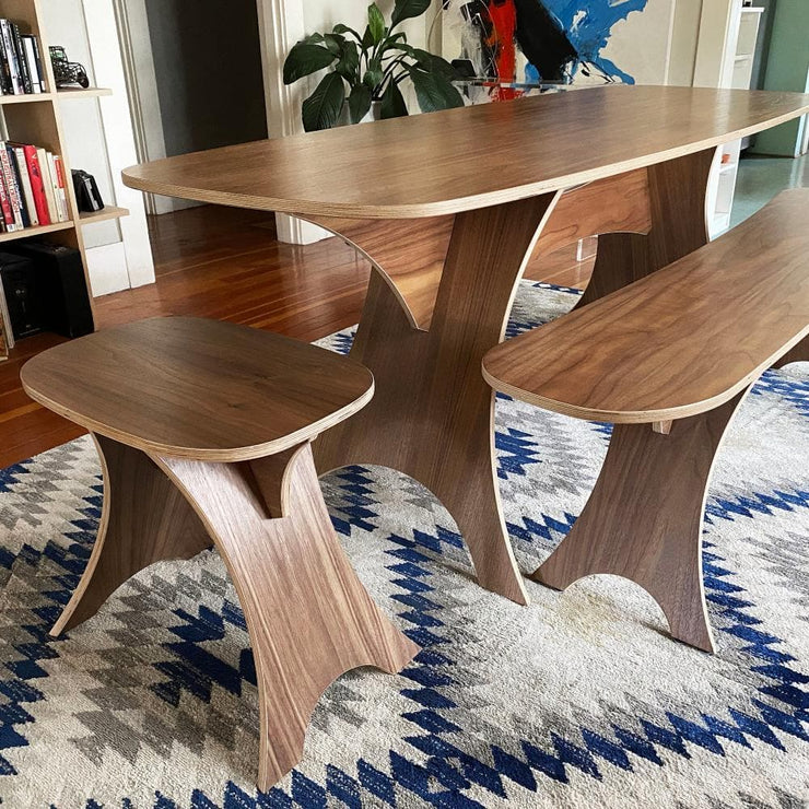 Simbly Stool End Table FSC Certified Sustainable Wood Walnut.
