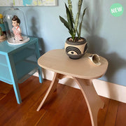 Simbly End Table Stool  Eco-Friendly FSC Certified Maple Wood