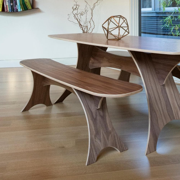 Simbly Sustainable Bench FSC Certified Wood Walnut