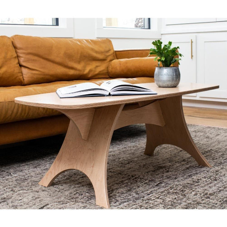 Simbly Sustainable Coffee Table Eco-Friendly FSC Certified Maple Wood