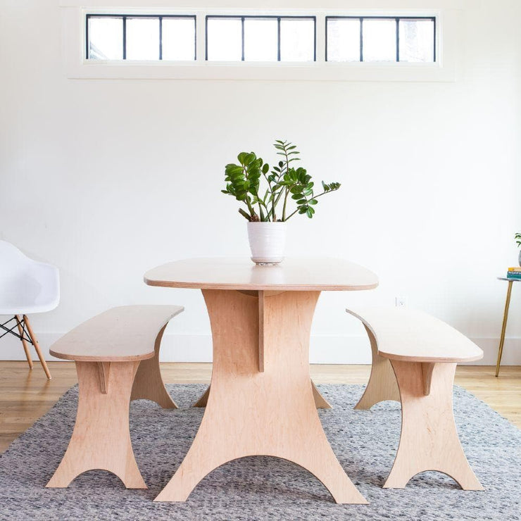 Simbly Sustainable Dining Table FSC Wood Maple