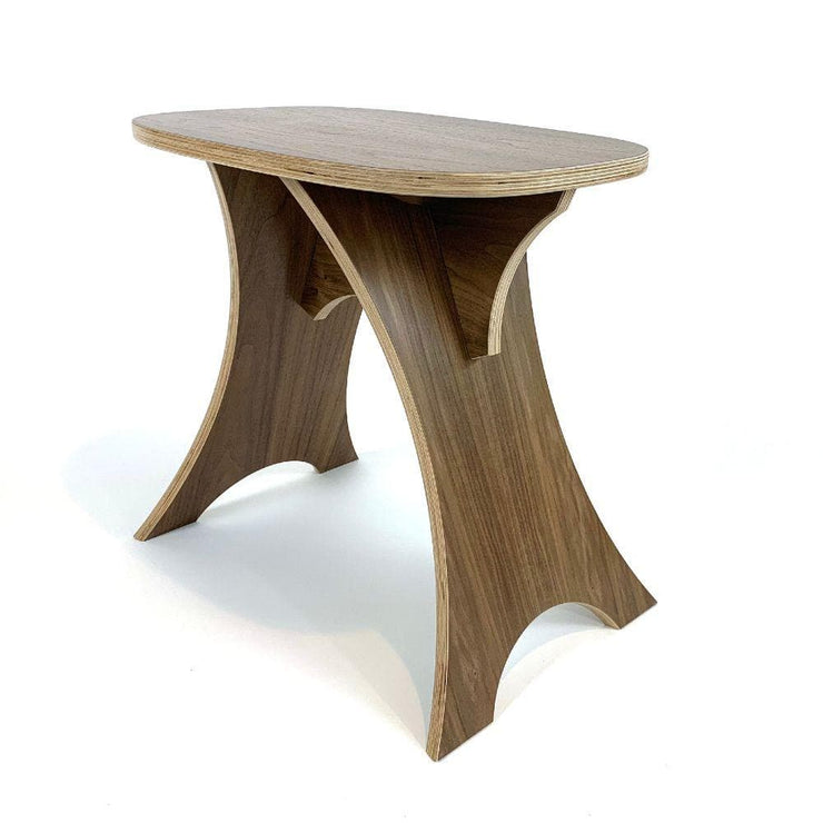 Simbly Eco-Friendly Stool End Table Sustainable FSC Walnut Wood