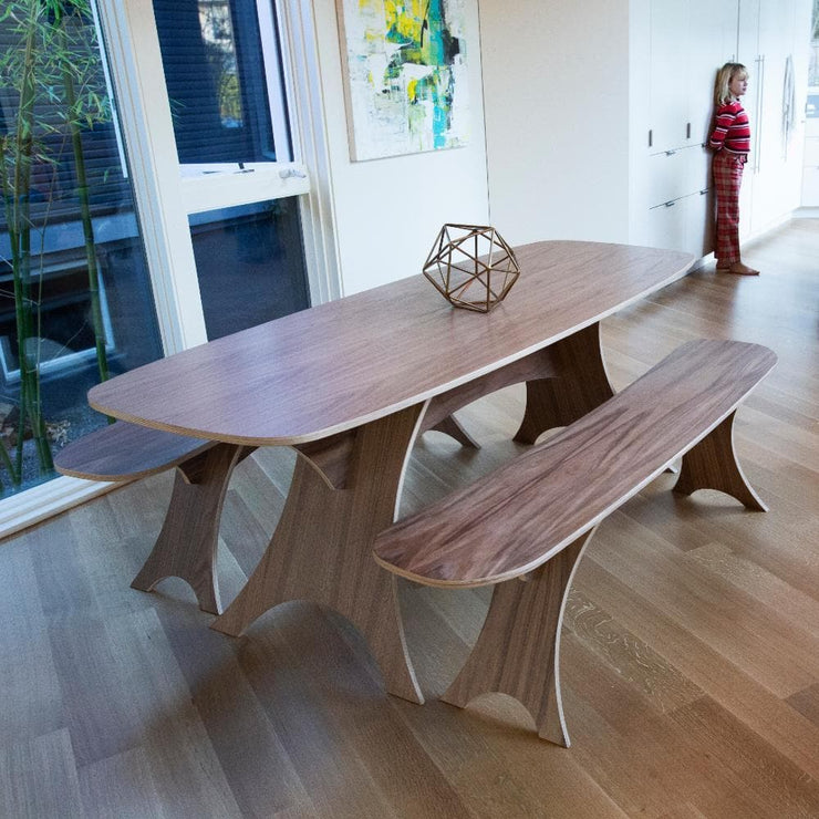 Simbly Sustainable Table Eco-Friendly FSC Wood Walnut