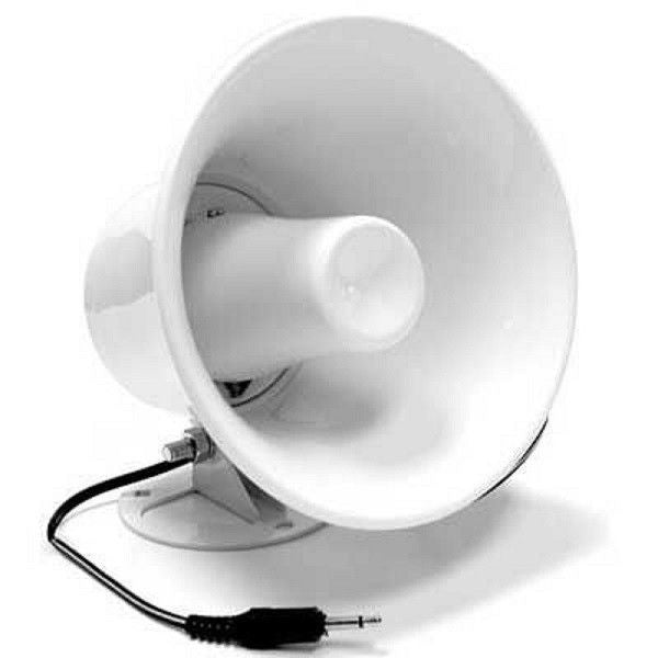 CB Radio Accessories - White ABS Weather Proof PA Speaker Horn