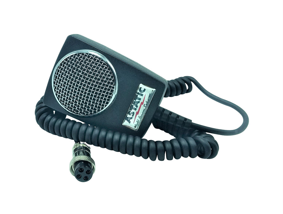 CB Radio Microphone - Astatic Amplified D104M6B Ceramic Power 4-Pin