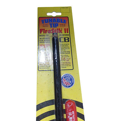 CB Radio Antenna - Firestik FS-4 Tunable Tip Fiberglass Combo Kit with 18' RG58 Coax and Mount