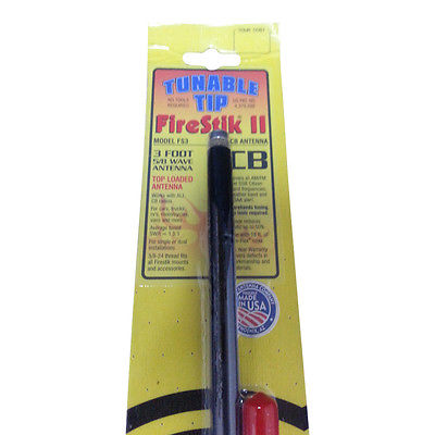 CB Radio Antenna - Firestik Firefly FS-3 Dual Combo Kit with 18' RG59u Dual Cophase Coax and Mounts