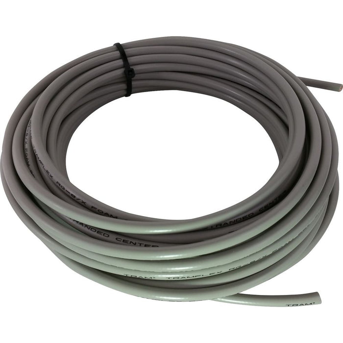 CB Radio Coax Cable - 100' Double Shielded RG8X Grey Tram Browning Base Coax Cable