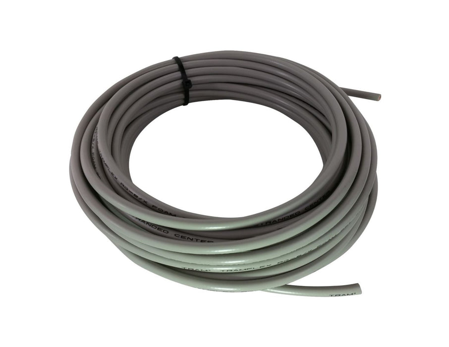 CB Radio Coax Cable - 50' True American Cable RG8X Grey Base Coax Cable