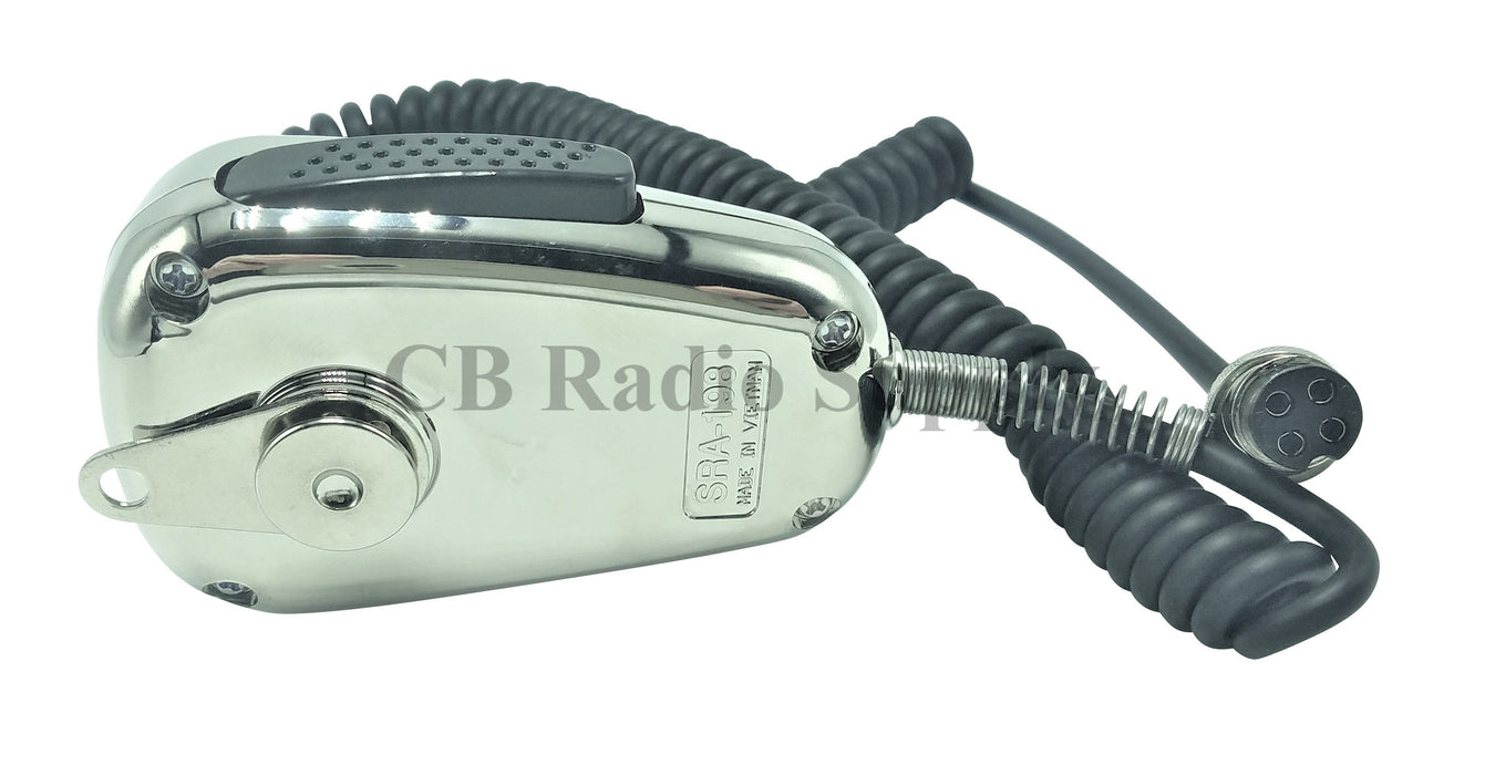 CB Radio Microphone - Ranger SRA-198C Noise Cancelling Microphone Chrome Version
