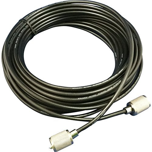 CB Radio Coax Cable - 100' 58UP B RG58 U Tram Browning Base Coax Cable with PL259 Connectors
