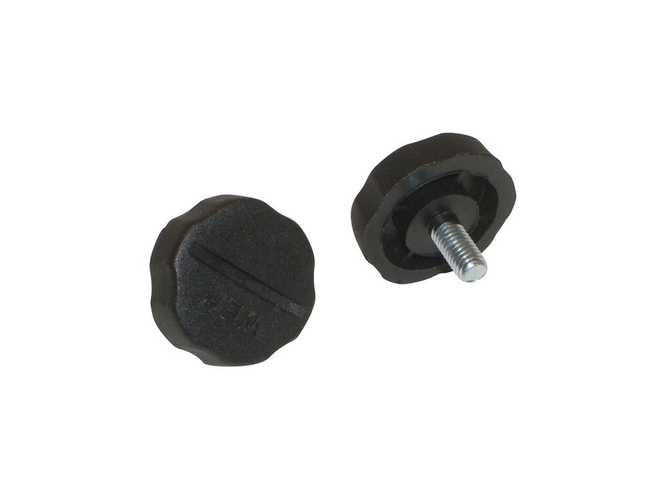 CB Radio Accessories - 5mm Black Plastic Bracket Screws KN5P (2-Pack)