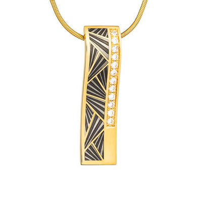 "Silver pendant ""Shagreen"" with 18K gold plating. pg2002 - Namfleg Enamel Jewelry"