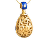 "Silver pendant ""Starry Sky"" with 18K gold plating. pp2004 - Namfleg Enamel Jewelry"