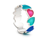 "Silver ring ""Turquoise Heart"". rs1003 - Namfleg Enamel Jewelry"