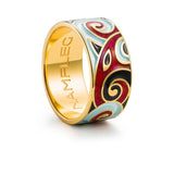 "Silver ring ""Tor"" with 18K gold plating. ro2014 - Namfleg Enamel Jewelry"