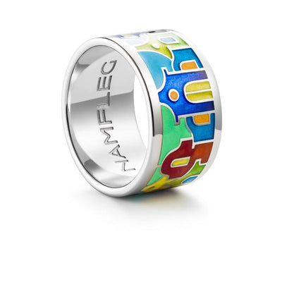 "Silver ring ""Bay of Palermo"". rd1003 - Namfleg Enamel Jewelry"