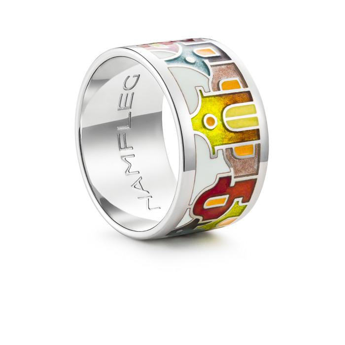 "Silver ring ""Christmas in Venice"". rd1001 - Namfleg Enamel Jewelry"