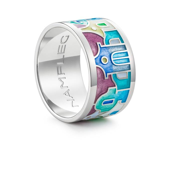 "Silver ring ""Easter in Milan"". rd1007 - Namfleg Enamel Jewelry"