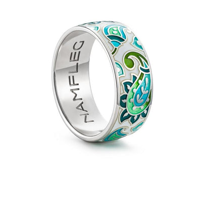 "Silver ring ""Persian carpet"". rr1017 - Namfleg Enamel Jewelry"