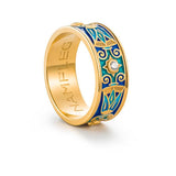 "Silver ring ""Sutra"" with 18K gold plating. rl2010 - Namfleg Enamel Jewelry"