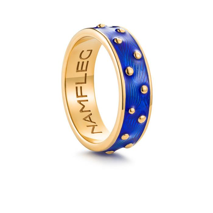 "Silver ring ""Starry Sky"" with 18K gold plating. rp2004 - Namfleg Enamel Jewelry"
