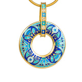"Silver pendant ""Sutra"" with 18K gold plating. pl2010 - Namfleg Enamel Jewelry"