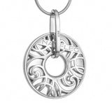 "Silver pendant ""Flaming Poppy"". pc1001 - Namfleg Enamel Jewelry"