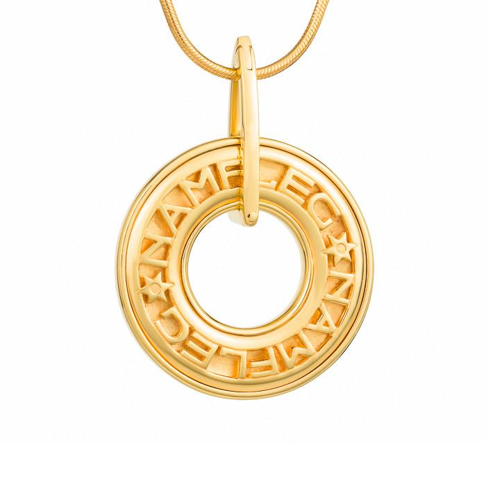 "Silver pendant ""Mahayana"" with 18K gold plating. pl2004 - Namfleg Enamel Jewelry"