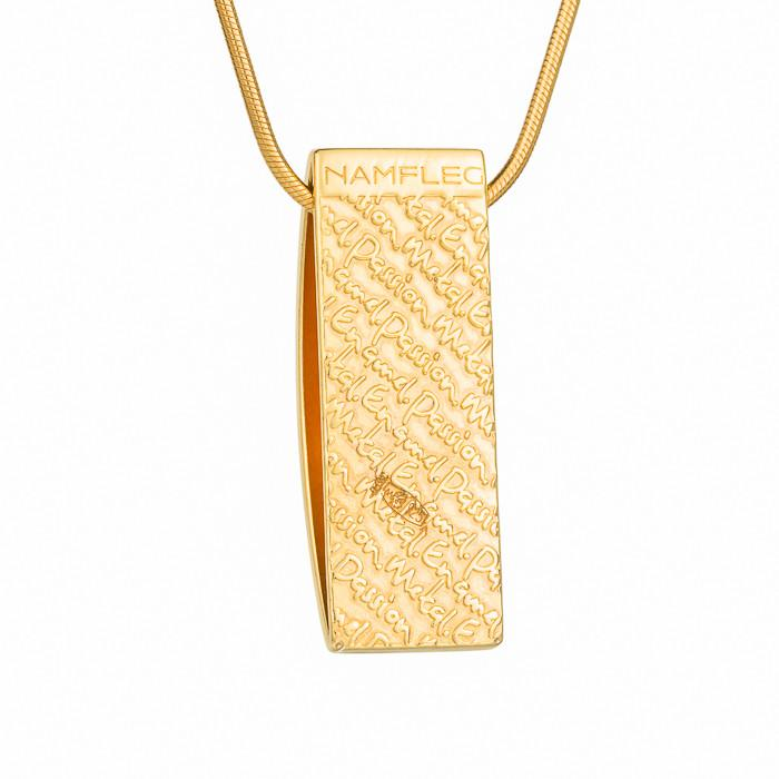"Silver pendant ""Gulf of Naples"" with 18K gold plating. pd2003p - Namfleg Enamel Jewelry"