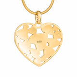 "Silver pendant ""Fruity Heart"" with 18K gold plating. ps2002 - Namfleg Enamel Jewelry"