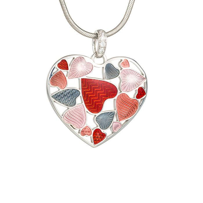 "Silver pendant ""Shadow Heart"". ps1004 - Namfleg Enamel Jewelry"