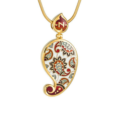 "Silver pendant ""Chinese Silk"" with 18K gold plating. pr2029 - Namfleg Enamel Jewelry"