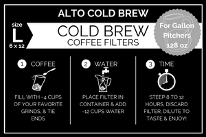 Large Alto Home Cold Brew Filters (1 Gallon)
