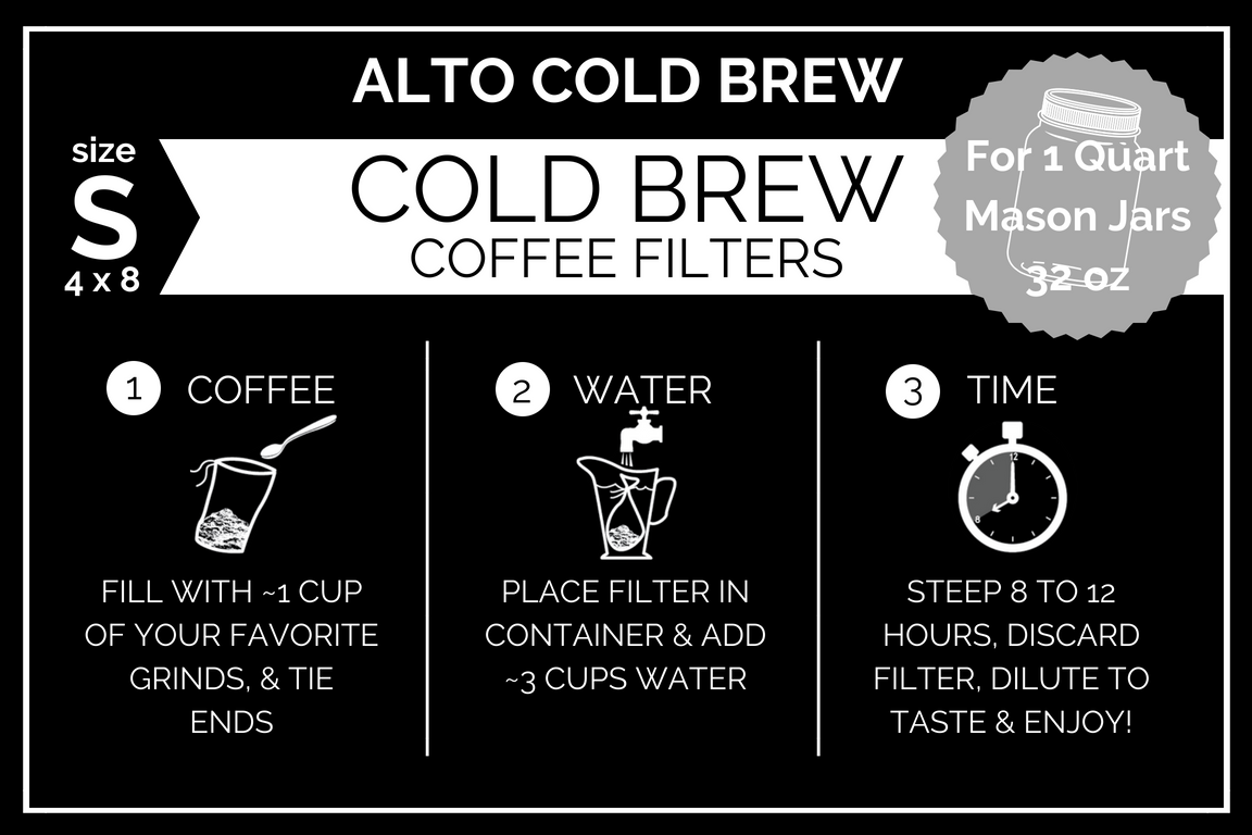 Small Alto Home Cold Brew Filters (35 - Pack)