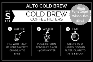 Small Alto Home Cold Brew Filters (Quart)