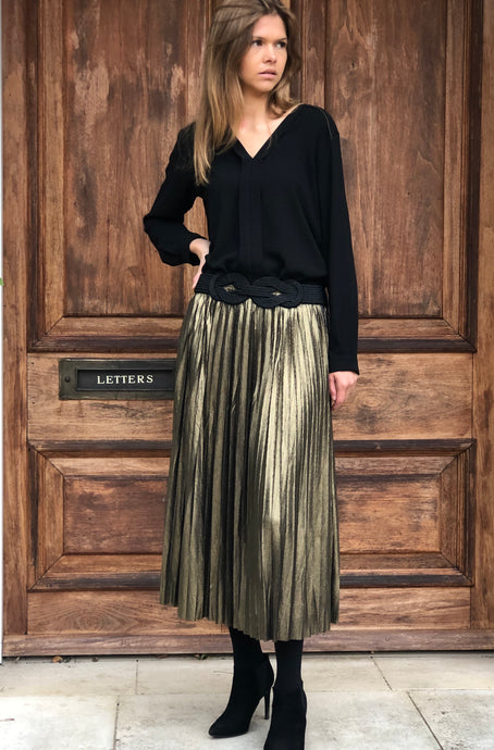Adele Skirt Gold