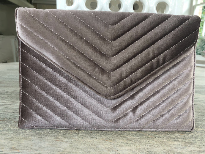 Velvet Clutch Taupe Limited Edition