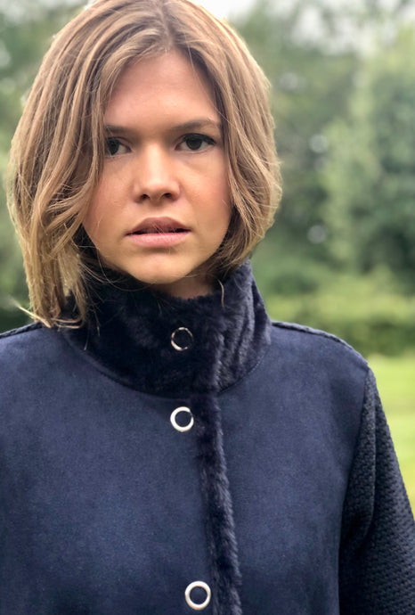 Cara Navy Coat