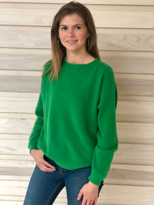 Jules Boyfriend Jumper Green