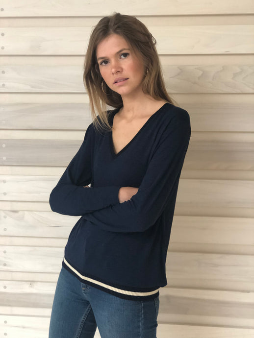 Elle Top Navy