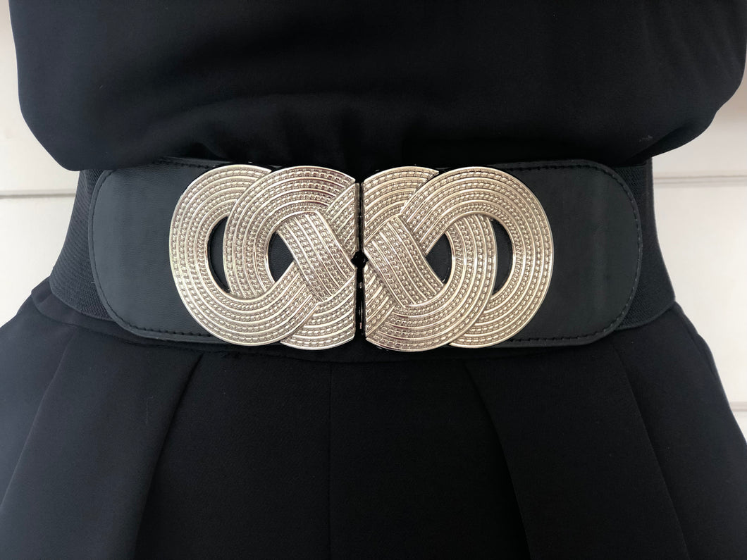 Metallic Belt Silver